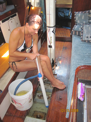 Pumping the bilge